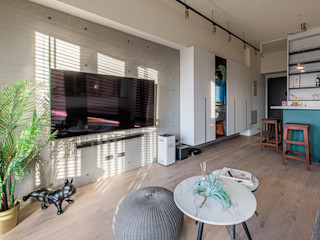 享受陽光通透的日子|實木百葉簾 MSBT 幔室布緹 客廳 水泥 White
