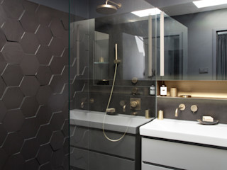 Penthouse Berlin- Friedrichshain Kempfer- Raumkonzepte Moderne Badezimmer