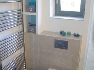 Kellerumbau in Berlin zu Wohnraum Kempfer- Raumkonzepte Moderne Badezimmer
