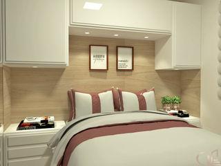 Laene Carvalho Arquitetura e Interiores 小臥室 White