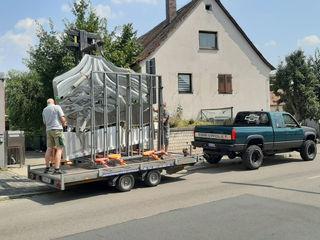 Vulkantor aus Edelstahl Edelstahl Atelier Crouse: Vorgarten Metall Metallic/Silber