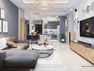 8 Mẫu thiết kế nội thất chung cư đẹp kèm bản vẽ phối cảnh, mặt bằng NEOHouse
