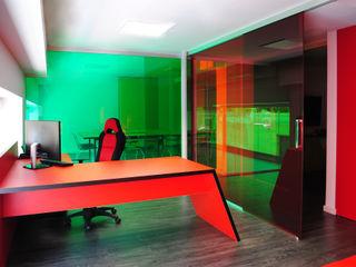 Ampliación oficinas en el barrio de Sarrià, Barcelona MANUEL TORRES DESIGN Oficinas y tiendas Rojo