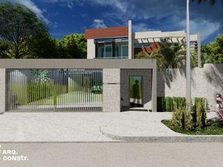 VIVIENDA UNIFAMILIAR V24 AA EISEN Arquitectura + Construccion Casas unifamiliares Concreto reforzado Blanco