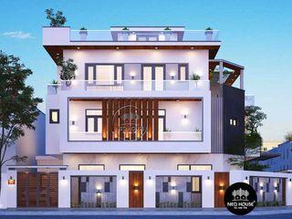 Thiết kế biệt thự 3 tầng 2 mặt tiền hiện đại đẹp 7x14m tại Nha Trang NEOHouse