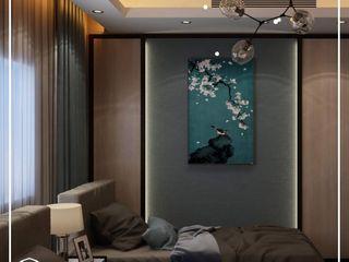 كاسل للإستشارات الهندسية وأعمال الديكور والتشطيبات العامة Small bedroom Silver/Gold Purple/Violet