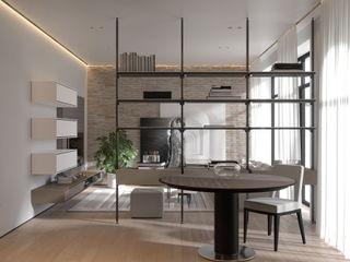 ITALIANELEMENTS Living roomShelves MDF Grey