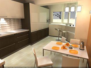 CLARE studio di architettura 現代廚房設計點子、靈感&圖片
