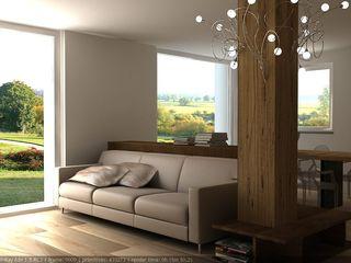 CLARE studio di architettura 现代客厅設計點子、靈感 & 圖片
