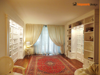 Soggiorno classico stile inglese Falegnamerie Design Soggiorno classico Legno Bianco