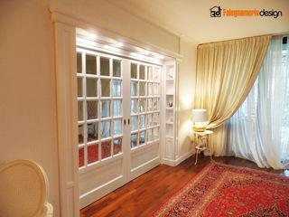 Soggiorno classico stile inglese Falegnamerie Design Porte scorrevoli Legno Bianco