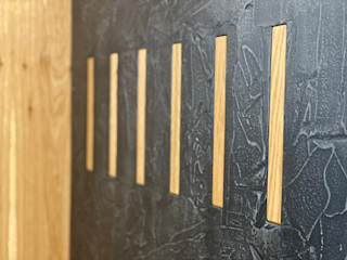 lab58 Modern corridor, hallway & stairs Wood Black