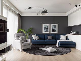 旋。容逸 存果空間設計有限公司 现代客厅設計點子、靈感 & 圖片