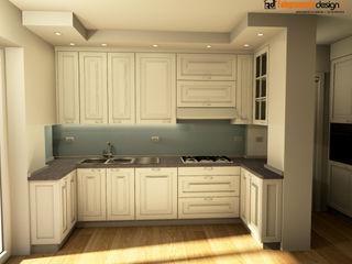 Cucina classica Falegnamerie Design Cucina attrezzata Legno Bianco