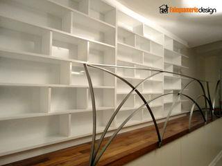 Libreria moderna Falegnamerie Design Soggiorno moderno Legno Bianco