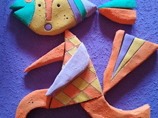 BORIS WECK :: ARIADNE Studio :: Topological Interior Design via Digital Transformation and QR ARt Exhibition centres Ceramic Purple/Violet