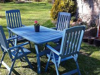 Dipingi i tuoi mobili da giardino rovinati Mobili a Colori Balcone, Veranda & TerrazzoMobili Legno Variopinto