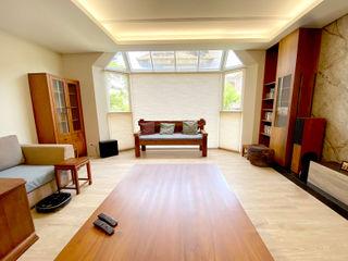 鄉間Villa的生活假期|蜂巢簾.斑馬簾.鋁百葉簾 MSBT 幔室布緹 客廳 木頭 Wood effect