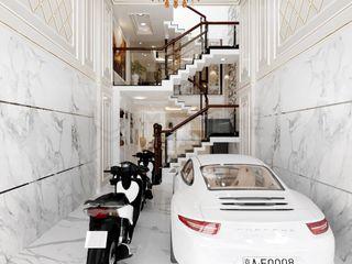NỘI THẤT NHÀ BIỆT THỰ PHỐ LUXCITY 4PN - A.VŨ - Q.7 Công ty Cổ Phần Nội Thất Mạnh Hệ Living roomFireplaces & accessories Đồng / Đồng / Đồng thau Transparent