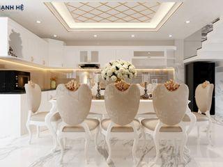 NỘI THẤT NHÀ BIỆT THỰ PHỐ LUXCITY 4PN - A.VŨ - Q.7 Công ty Cổ Phần Nội Thất Mạnh Hệ HouseholdAccessories & decoration Đá vôi Turquoise
