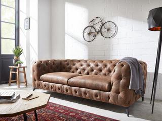 Corleone - Rundum Lehne, Rundum glücklich! DELIFE WohnzimmerSofas und Sessel Textil Braun