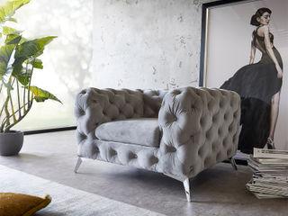 Corleone - Rundum Lehne, Rundum glücklich! DELIFE WohnzimmerSofas und Sessel Textil Grau