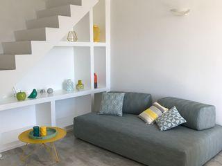 Studio Zay Architecture & Design Modern living room Marble Grey