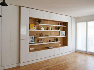 Appartement 70m² - Paris 17 A comme Archi Salon moderne Blanc