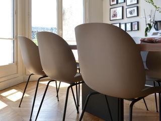 Appartement Art Déco 200 m² - Paris 7 A comme Archi Cuisine moderne Beige