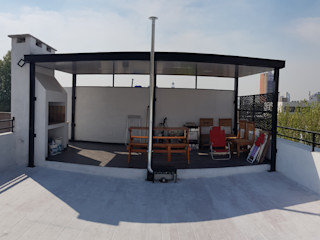 Erb Santiago Balcone, Veranda & Terrazza in stile minimalista