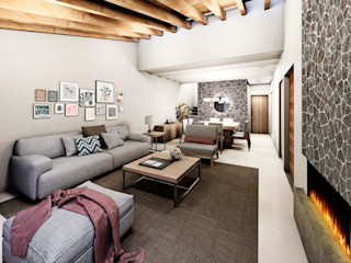 Estudio Meraki Colonial style living room