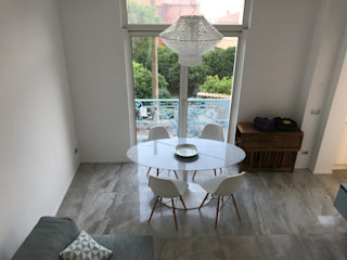 Studio Zay Architecture & Design Modern dining room Marble Grey