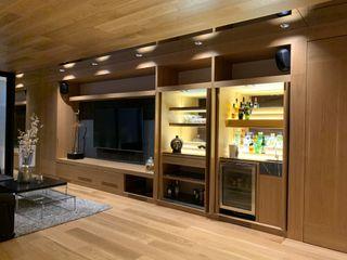 Casa en Santa Fé Revah Arqs Sala multimediaMuebles Madera Acabado en madera