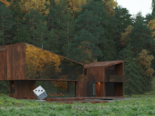 Grynevich Architects Terrace house Metal Brown