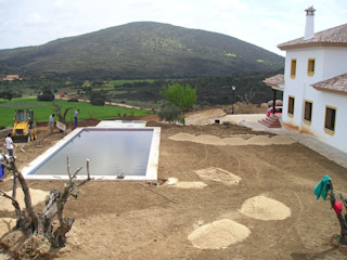 Jardín Finca particular Jardinería Las Jaras Jardines de estilo rústico