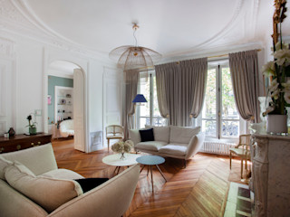 APPARTEMENT HAUSSMANIEN MISS IN SITU Clémence JEANJAN Salon original Bois Beige