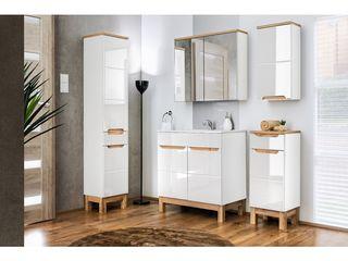 mirat.pl BadezimmerAufbewahrungen Holz Weiß