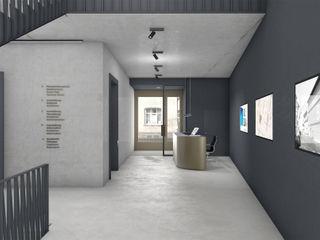 FISCHER & PARTNER lichtdesign. planung. realisierung Modern corridor, hallway & stairs
