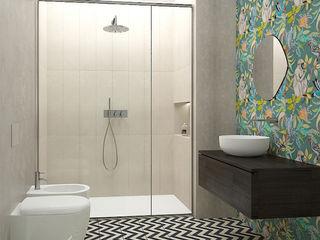 Studio Zay Architecture & Design Eclectic style bathroom Ceramic Green
