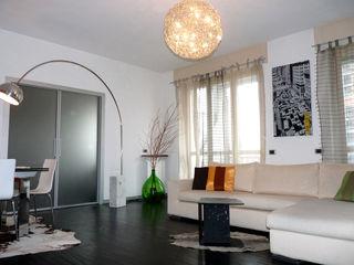 Appartamento F/T Milano Studio Zay Architecture & Design Soggiorno moderno Legno Bianco