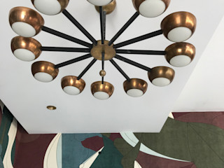 Studio Zay Architecture & Design Eclectic style dining room Copper/Bronze/Brass Amber/Gold