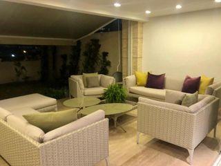 THE muebles Ruang Keluarga Modern Aluminium/Seng Beige