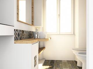 Bagno su misura Falegnamerie Design Bagno minimalista Legno Bianco