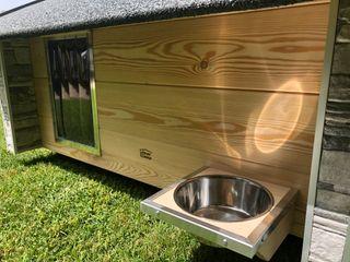 Cuccia da esterno ispirata a casa Pet House Design® Casetta da giardino Legno Marrone