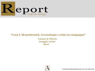 Report Esempio_Progetto a Distanza: Casa Lm . antonio felicetti architettura & interior design