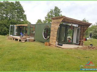 Mobil Villam Holzhaus Holz Holznachbildung