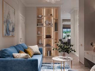 Студия дизайна 'INTSTYLE' Classic style living room Wood White