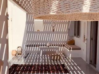 studio patrocchi Balcon, Veranda & Terrasse méditerranéens Béton