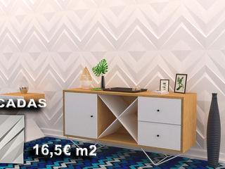 António Campos Aves Gesso 3D Unipessoal LDA 牆壁與地板牆壁裝飾 White