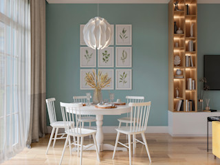 Студия дизайна 'INTSTYLE' Scandinavian style dining room Wood Green